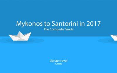Mykonos to Santorini in 2017