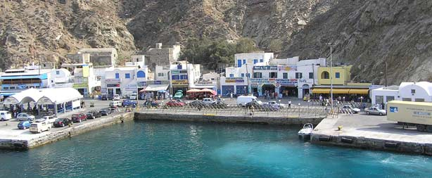 Athinios port, Santorini